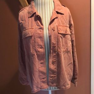 Lucky Brand Light Salmon Shirt Jacket Sz L